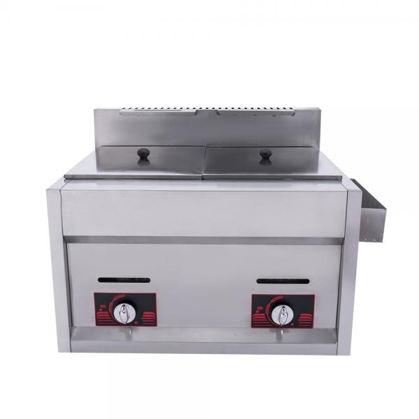 Astar Gas Deep Fryer Commercial Double Tank Fryers with Oil Filter for Sale